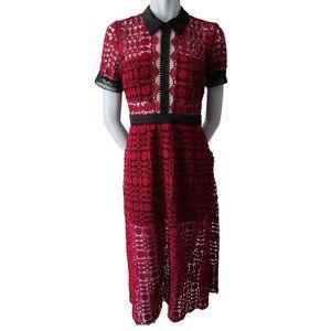 Fashion F&G Girl Crochet Midi Dress S